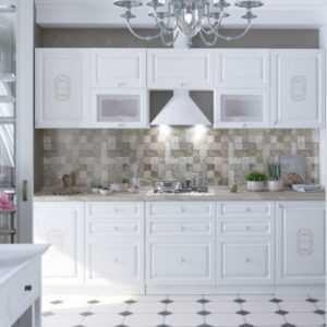 модульная кухня в белом цвете