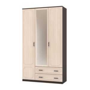 шкаф с выкатными ящиками и зеркалом