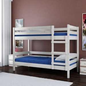 кровать из массива двухъярусная