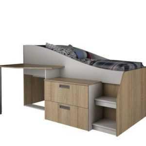 односпальная кровать с рабочим местом