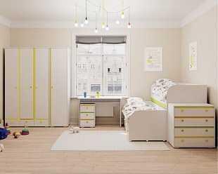 модульная детская с двухъярусной кроватью
