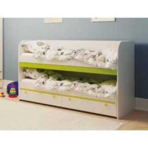 двухъярусная невысокая кровать