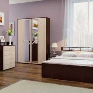 строгая современная спальня