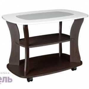 стол с глянцевой крышкой и стеклом