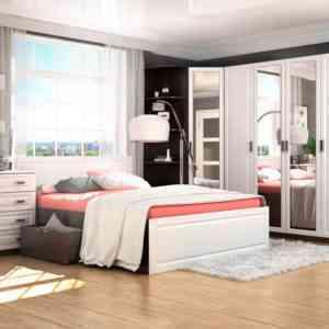 спальня с кроватью с ящиками модульная