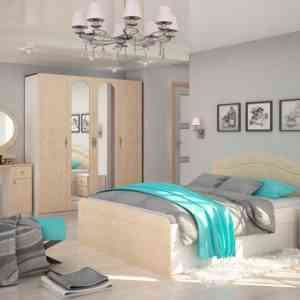 модульная спальня с глянцевыми фасадами
