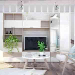 модульная гостиная с фасадами глянец