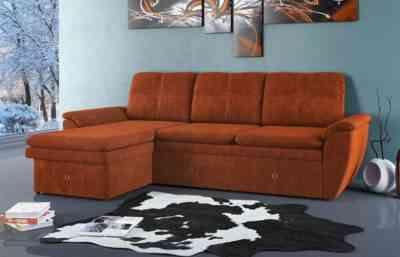 угловой диван с вместительным ящиком