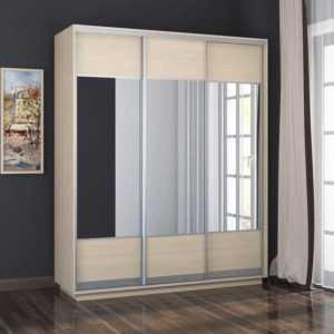 шкаф с зеркалами 3х дверный