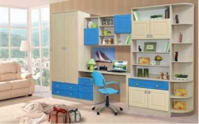 удобная модульная для детской цветные фасады
