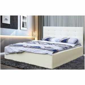 кровать в кожзаме с подъемником