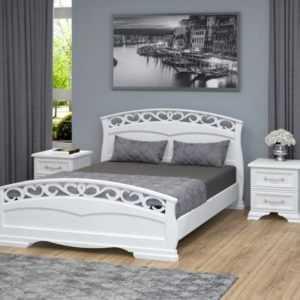 кровать из массива белая