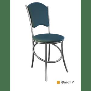 хром-стул с мягкой спинкой