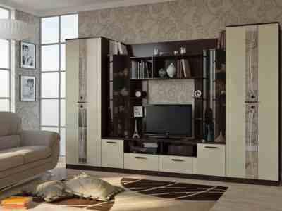гостиная с двумя вместительными шкафами купить недорого